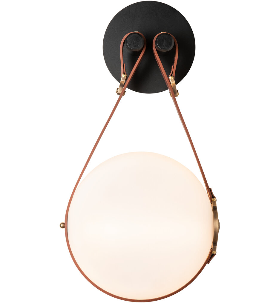 Derby Brass with Black Wall Sconce