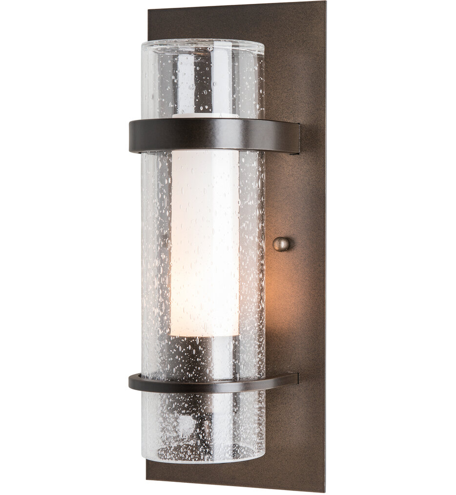 Banded Seeded Glass Wall Sconce