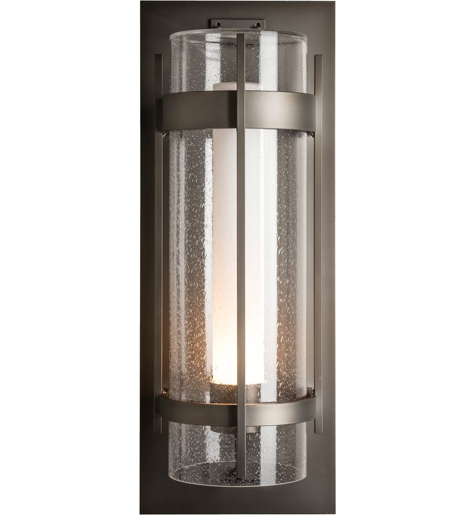 Banded Seeded Glass XL Outdoor Wall Sconce