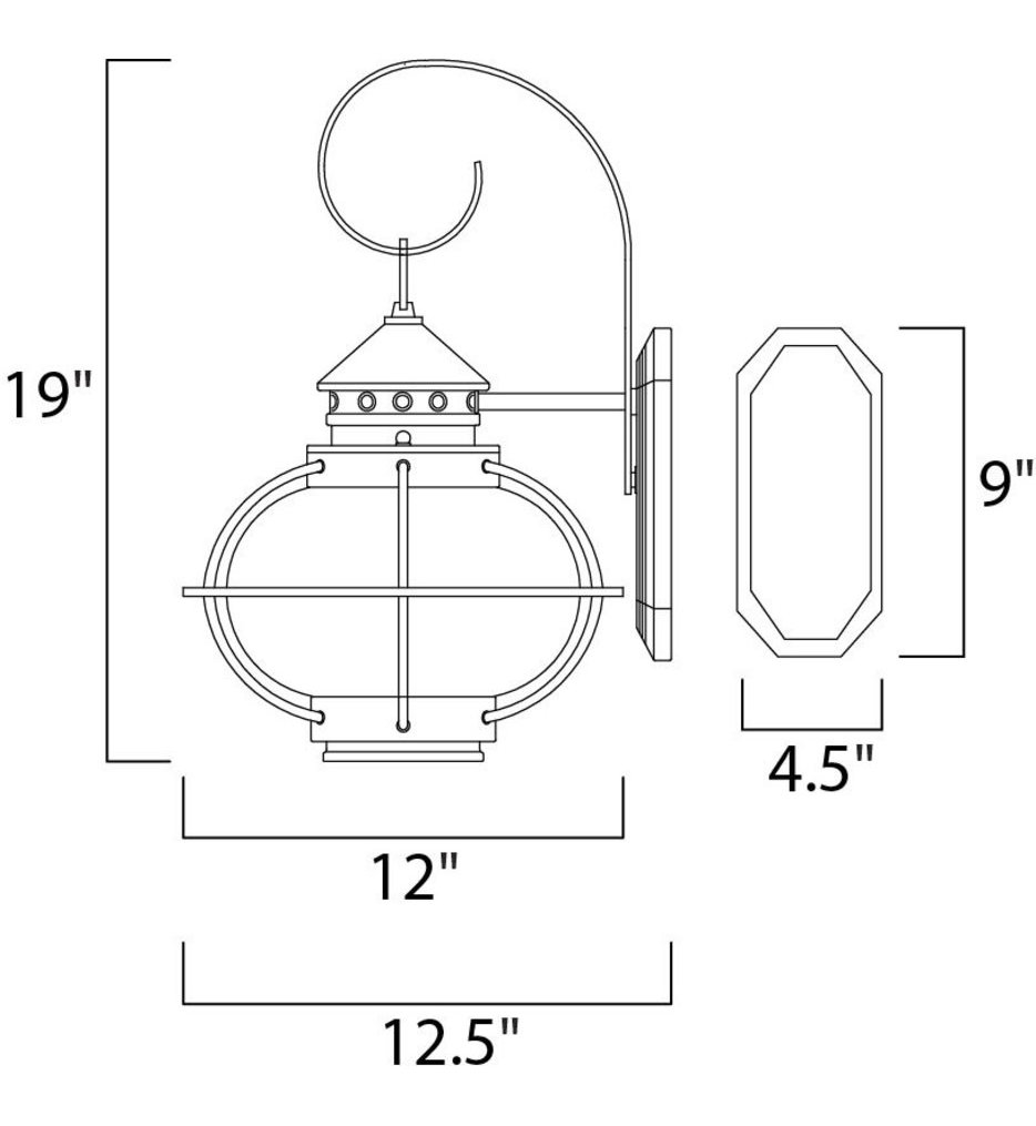 """Portsmouth 19"""" Outdoor Wall Sconce"""