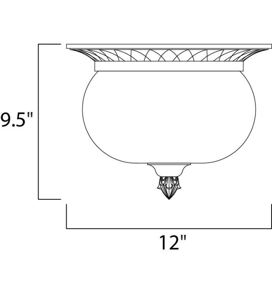 """Carriage House 12"""" Outdoor Flush Mount"""