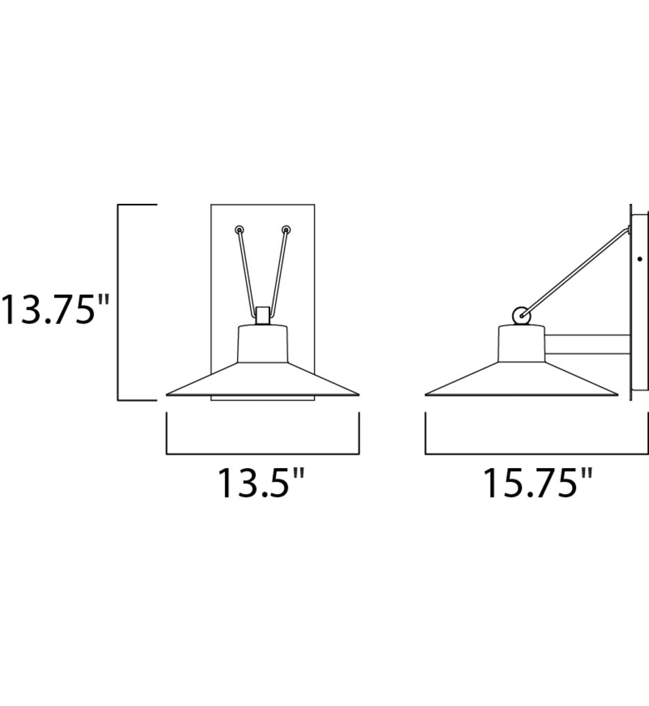 """Civic 13.75"""" Outdoor Wall Sconce"""
