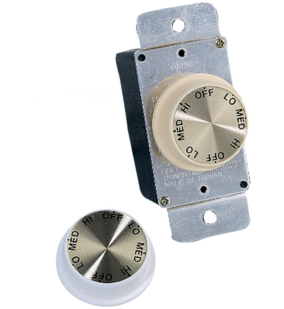 Ivory & White 3Speed Rotary Wall Control