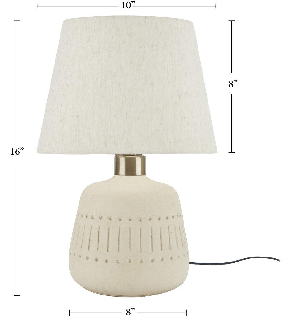 """Textured Tribal Ceramic 16"""" Accent Lamp"""