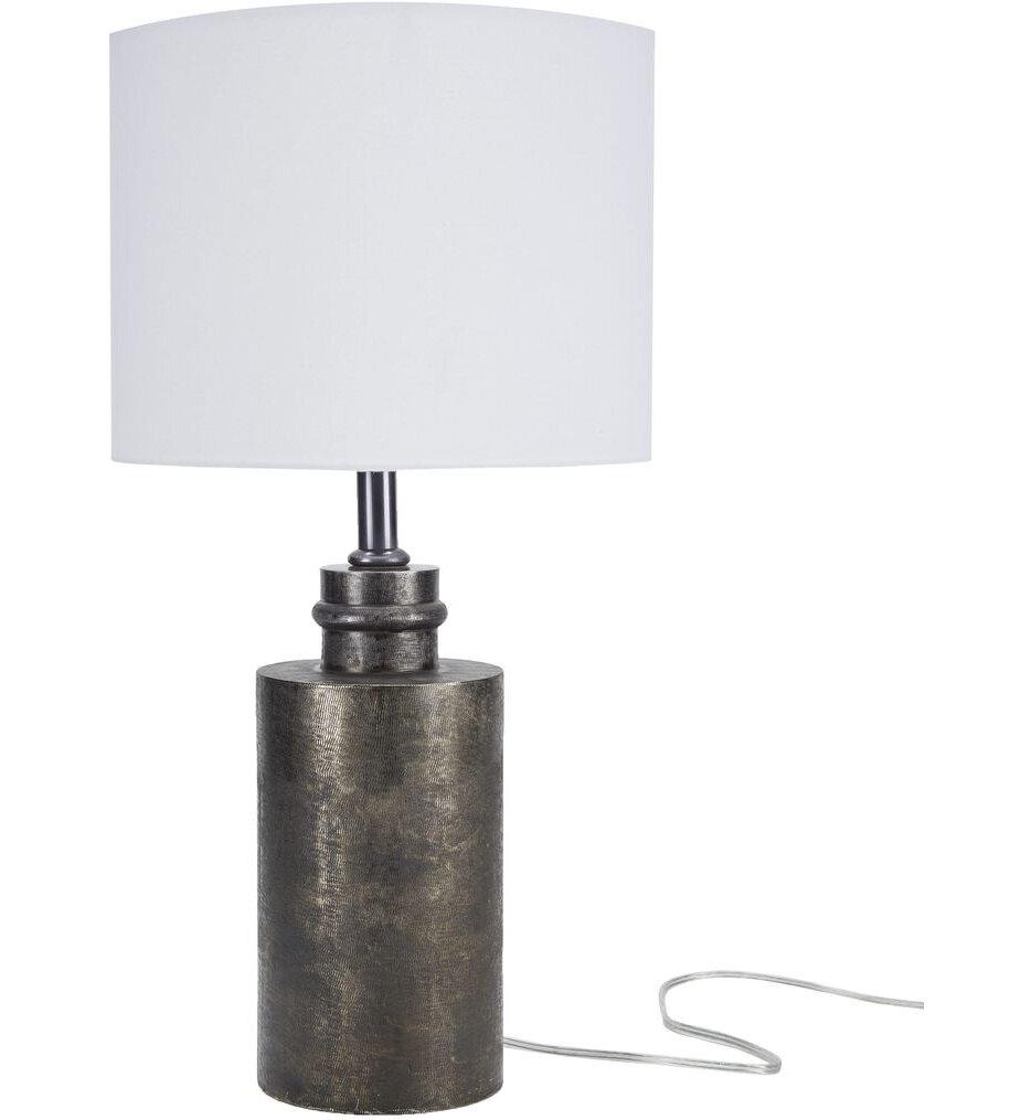 """Textured Aluminum 25"""" Table Lamp"""