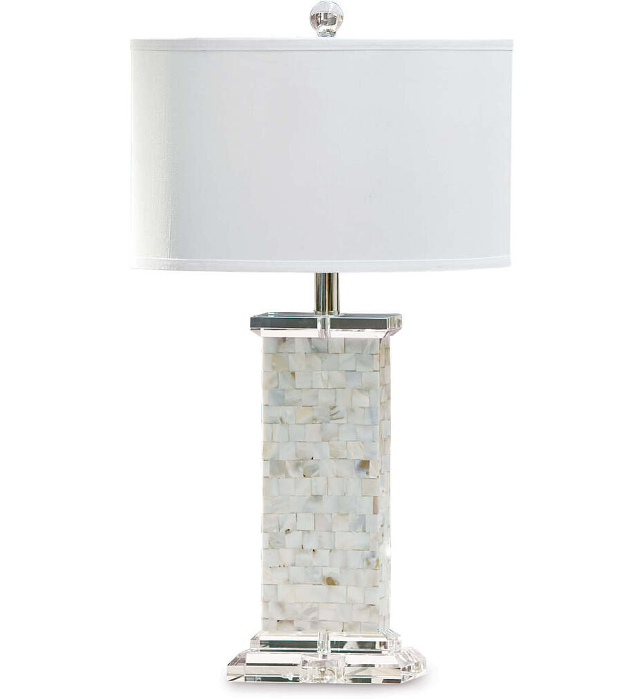 """Brook Mother of Pearl 28"""" Table Lamp"""