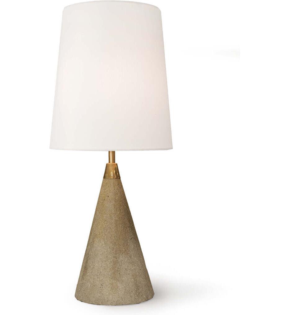 """Concrete Mini Cone 21.75"""" Table Lamp"""