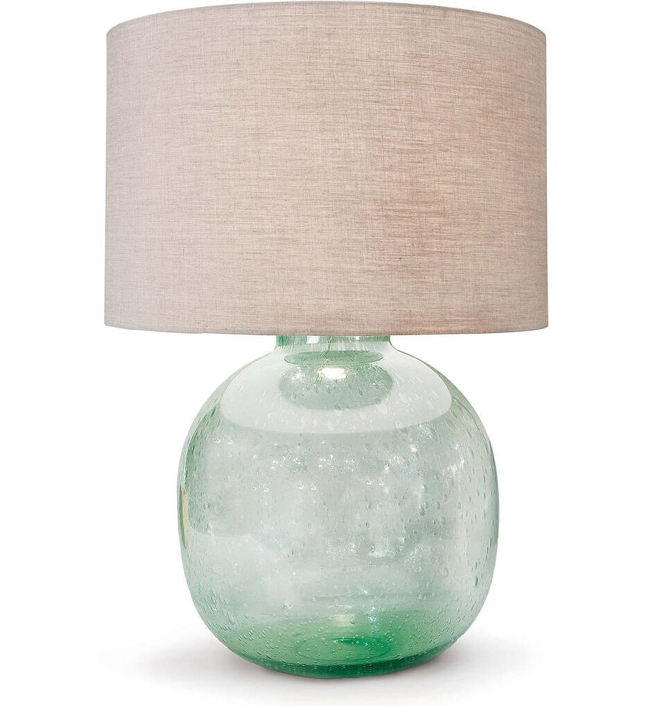 """Seeded Recycled Glass 26"""" Table Lamp"""