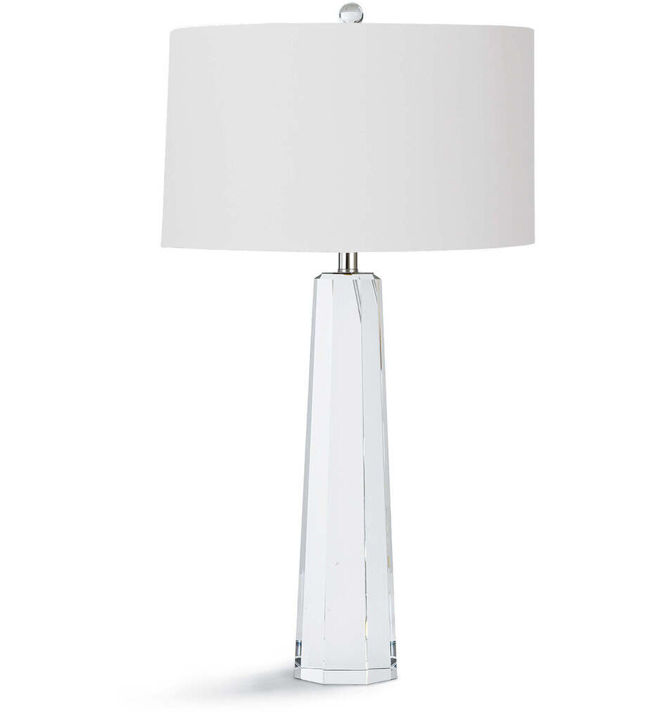 """Tapered Hex Crystal 32"""" Table Lamp"""
