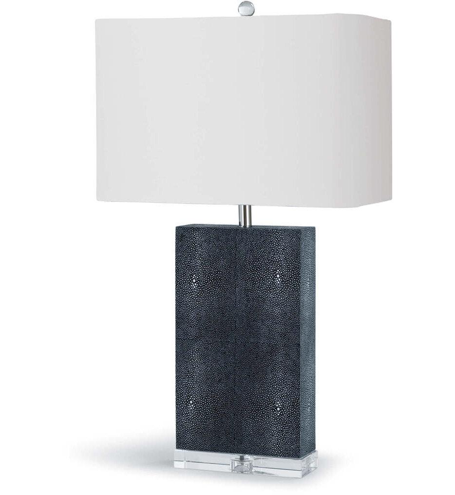 "Marcel Charcoal Shagreen 26"" Table Lamp"