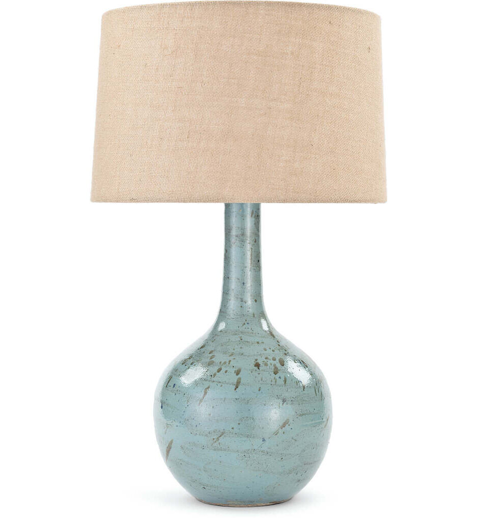 """Fluted Ceramic 27"""" Table Lamp"""
