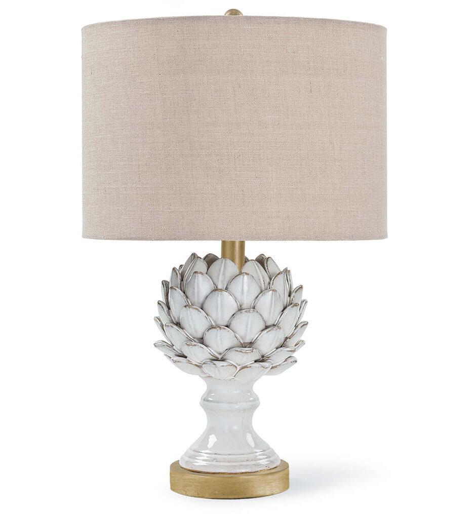 """Leafy Artichoke Ceramic 20.5"""" Table Lamp"""