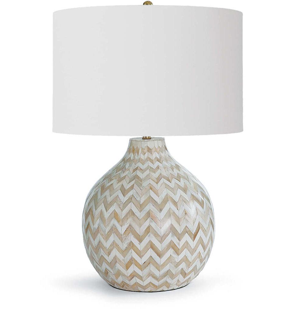"Chevron Bone 25.25"" Table Lamp"