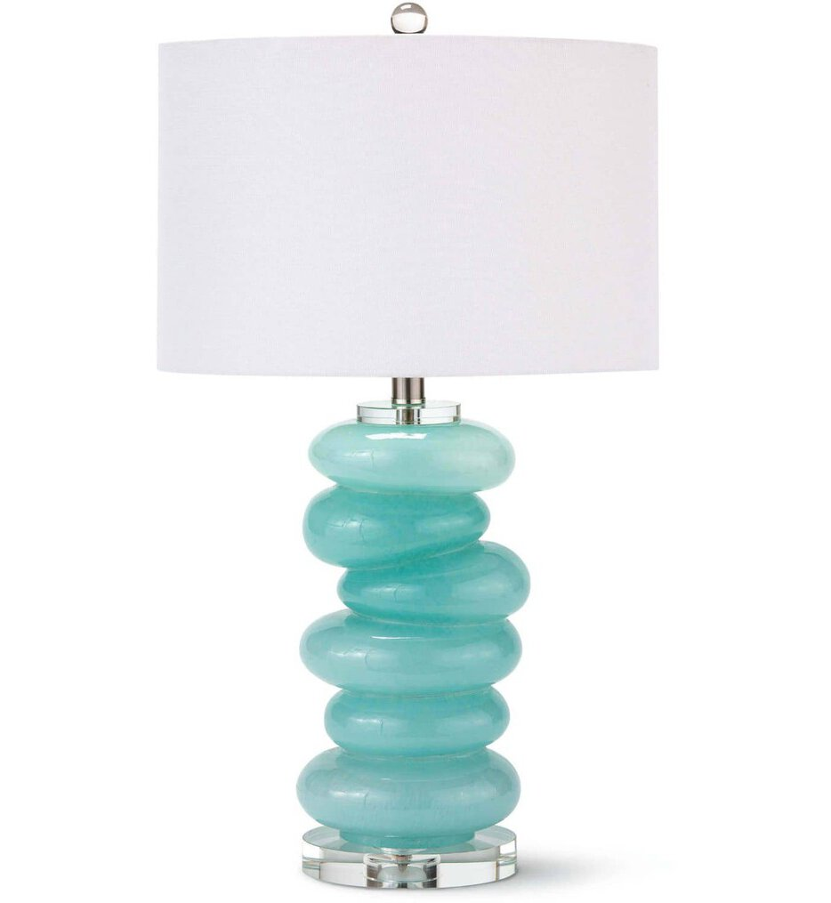 """Stacked Pebble Glass 25.5"""" Table Lamp"""