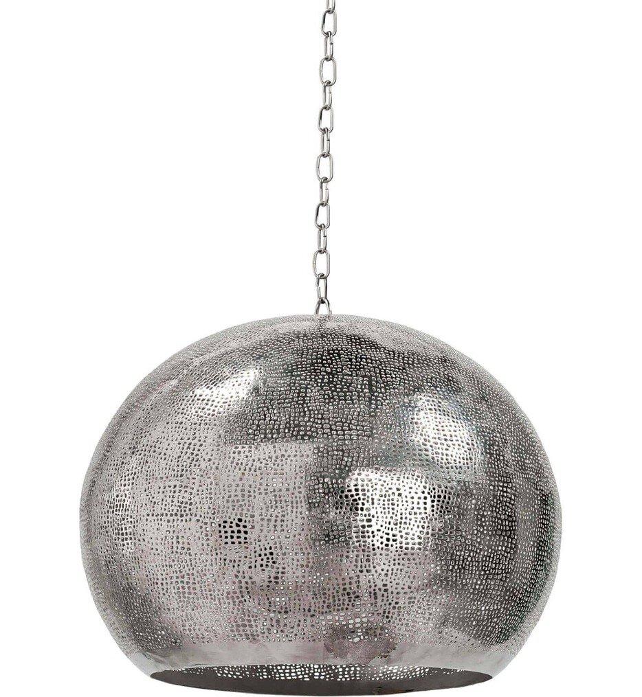 """Pierced Metal Sphere 18"""" Pendant"""