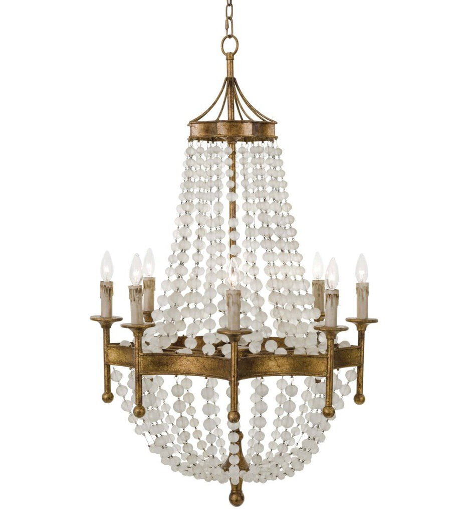 """Frosted Crystal 28"""" Chandelier"""