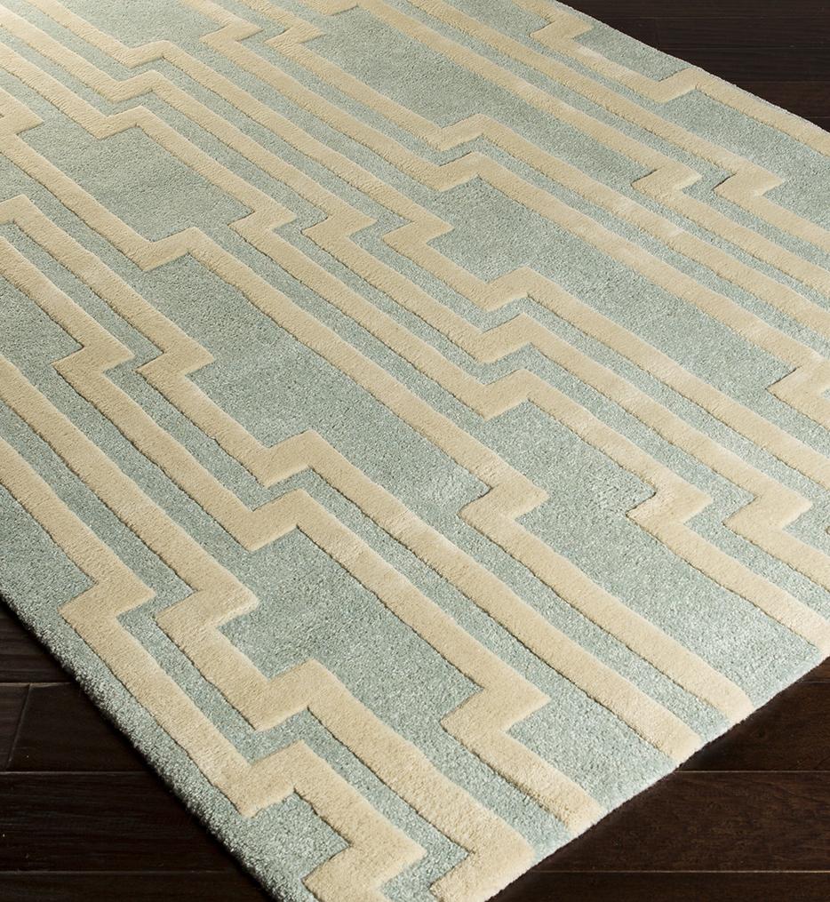 Modern Classics Fret Geometric Hand Tufted Rug