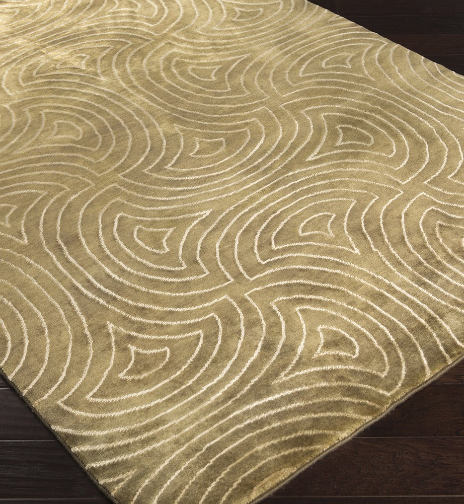 Luminous Contemporary Hand Knotted Rug