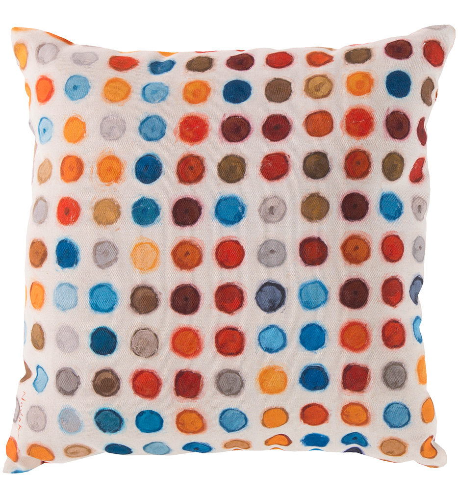 Colorful Polka Dots Decorative Pillow