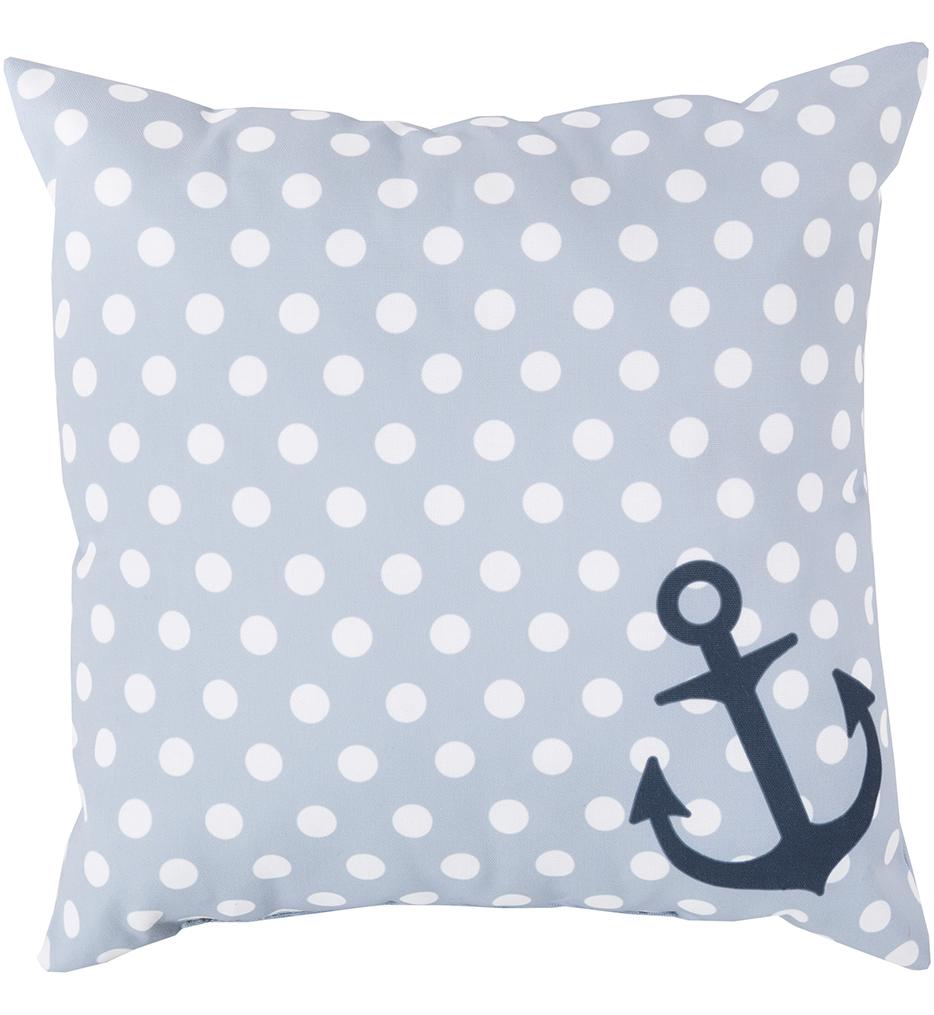 Polka Dot Anchor Decorative Pillow