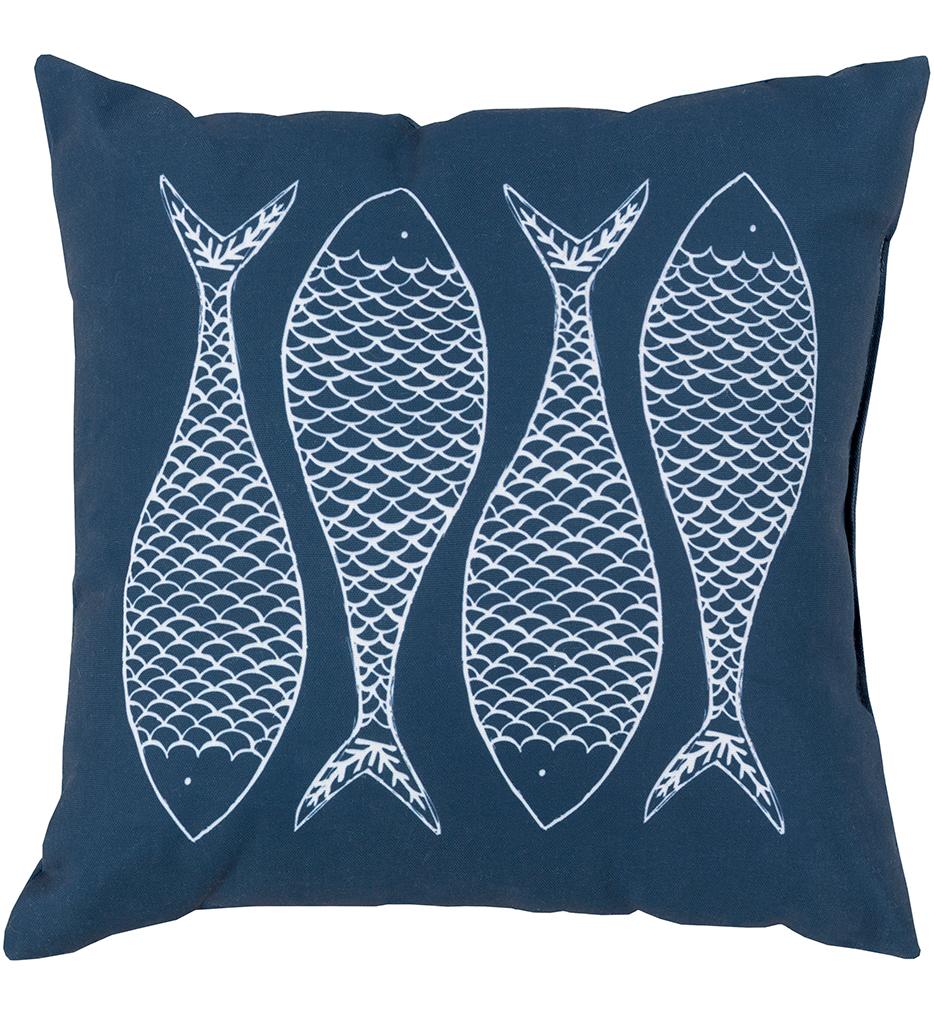 Four Fish Decorative Pillow