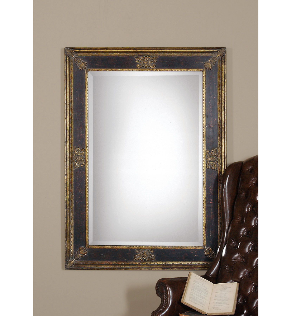 Cadence Small Antique Gold Mirror