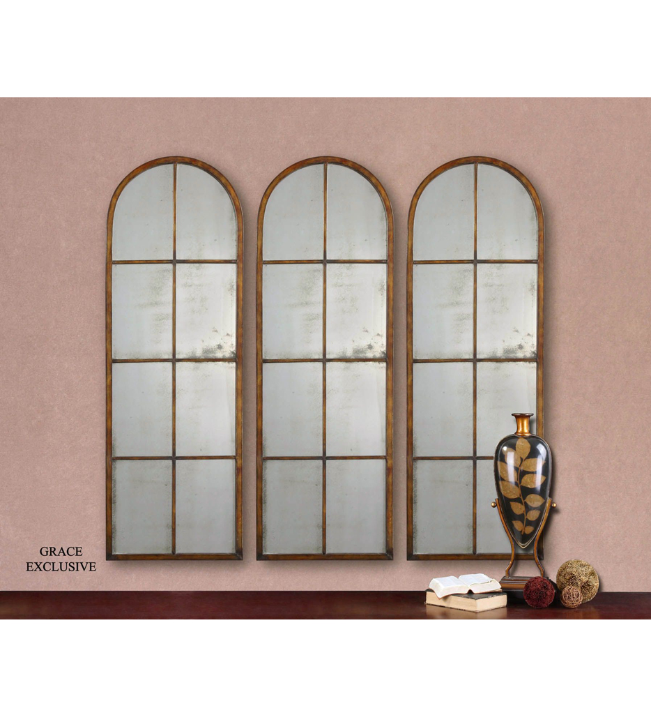 Amiel Arched Brown Mirror