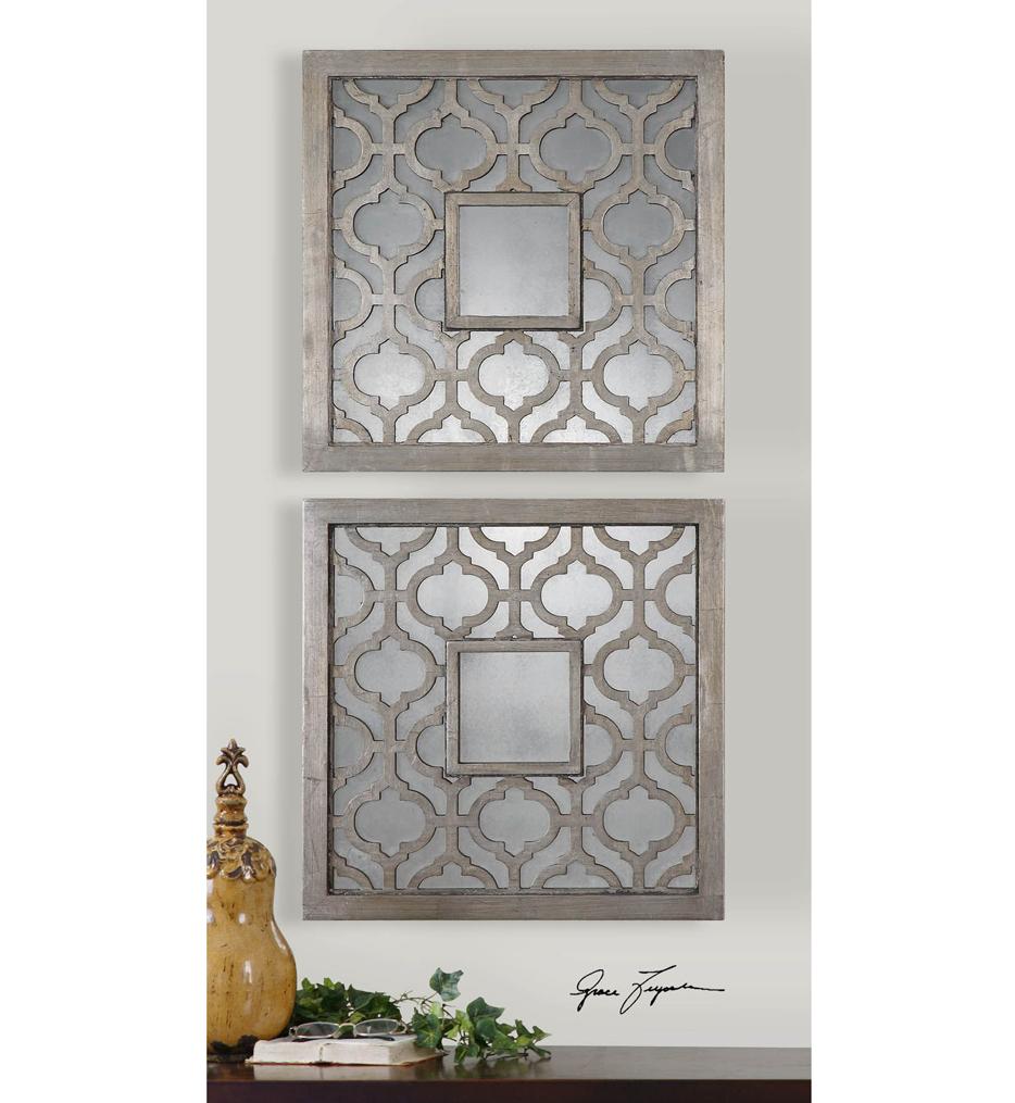 Sorbolo Squares Decorative Mirrors (Set of 2)