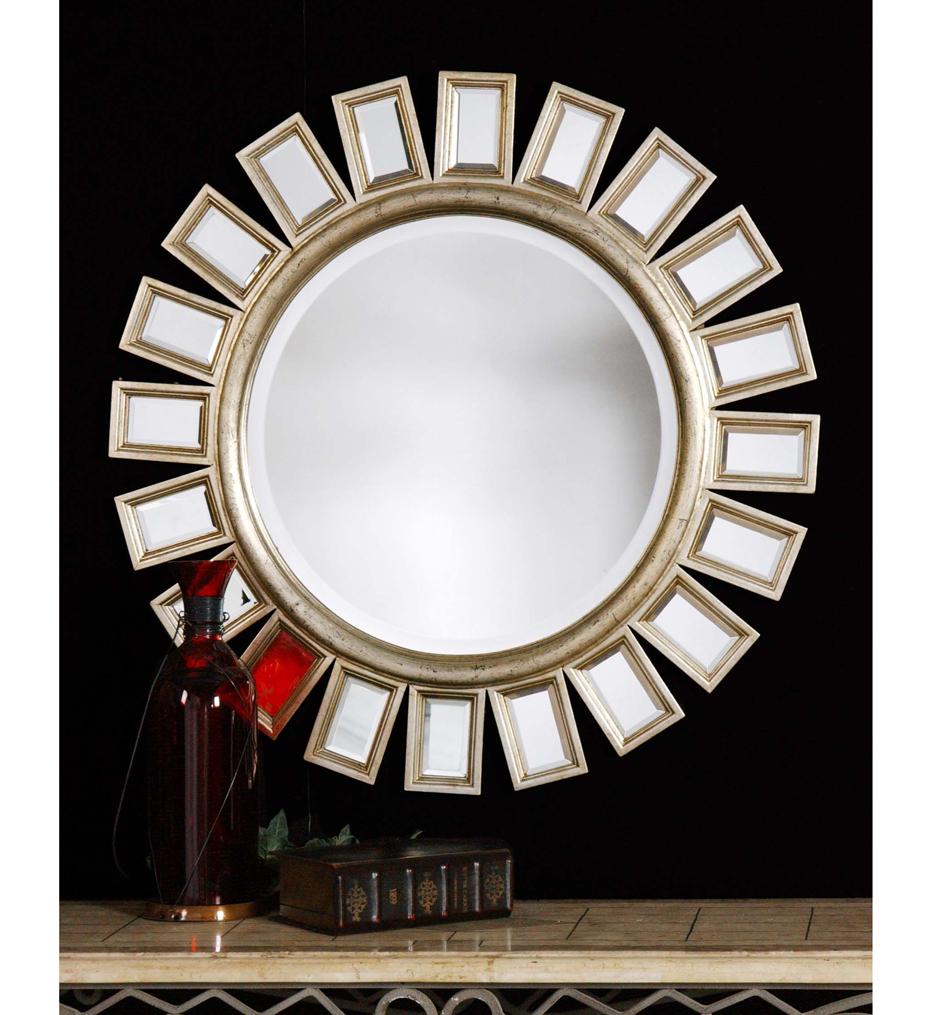 Cyrus Round Silver Mirror