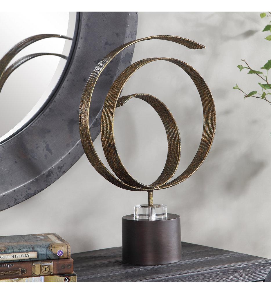 Elio Copper Patina Sculpture