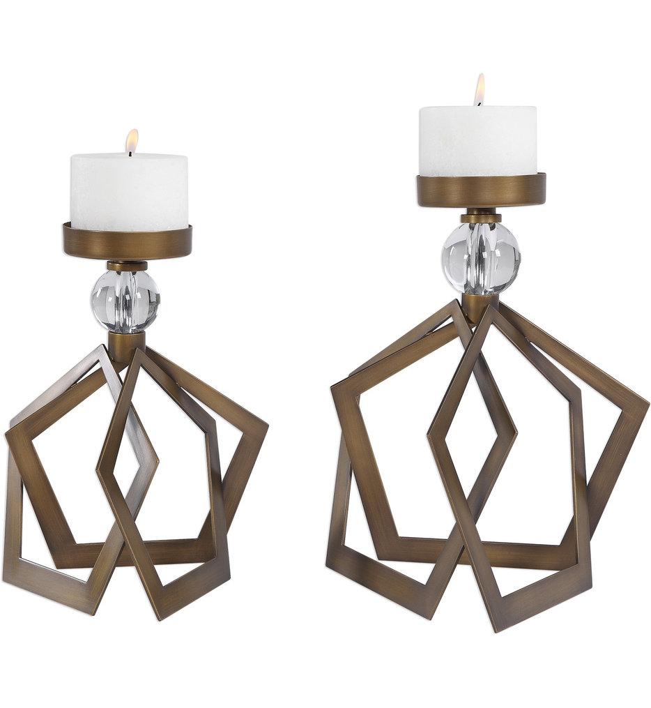 Lianna Open Bronze Candleholders (Set of 2)