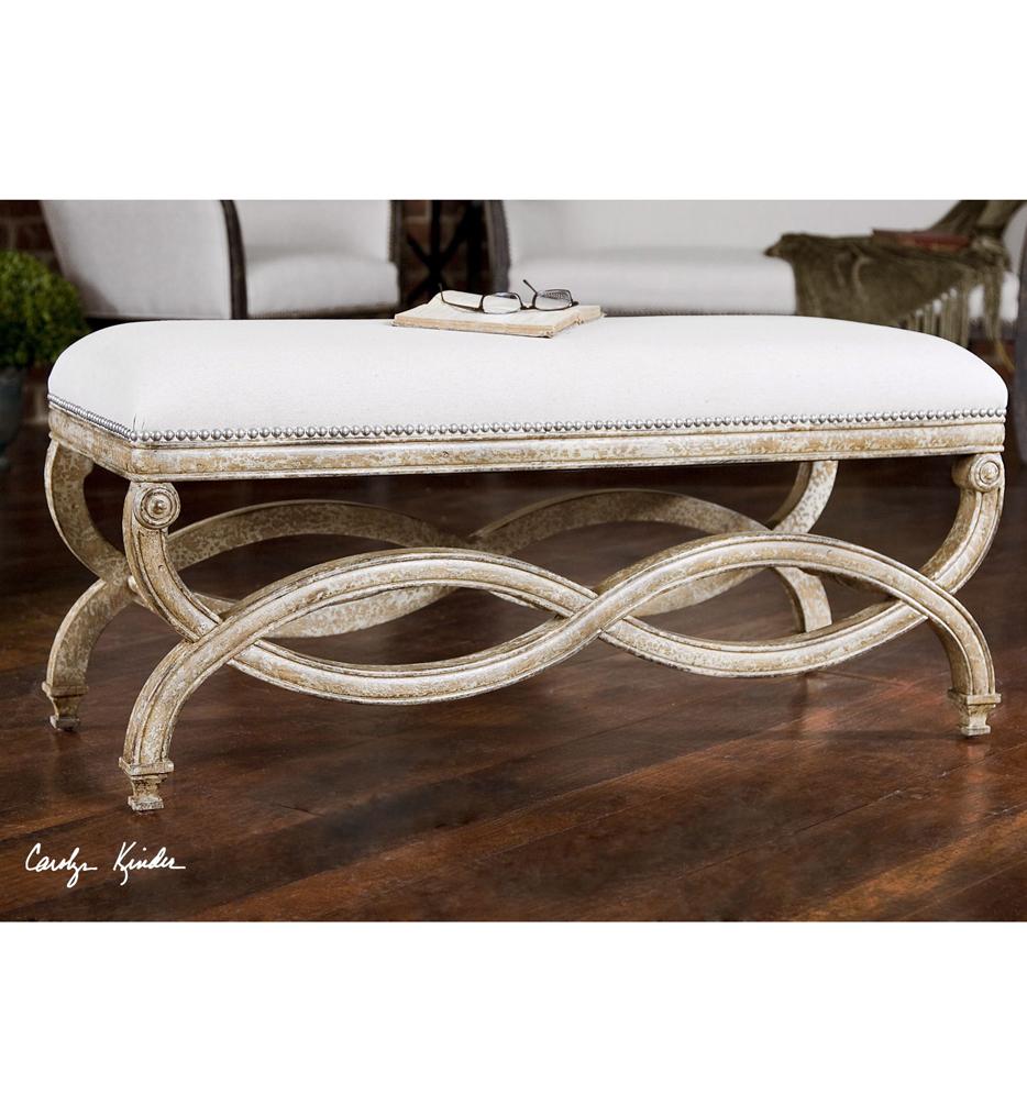 Karline Natural Linen Bench