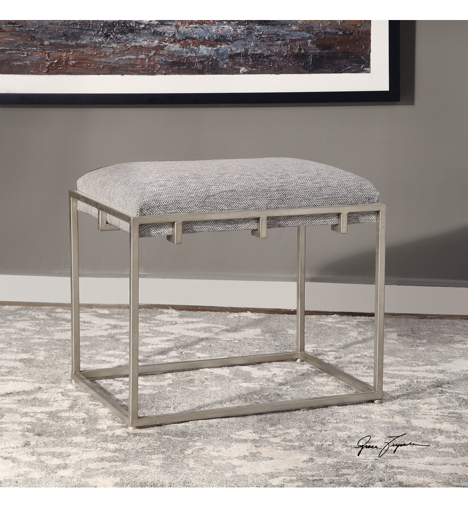 Edie Silver Small Bench