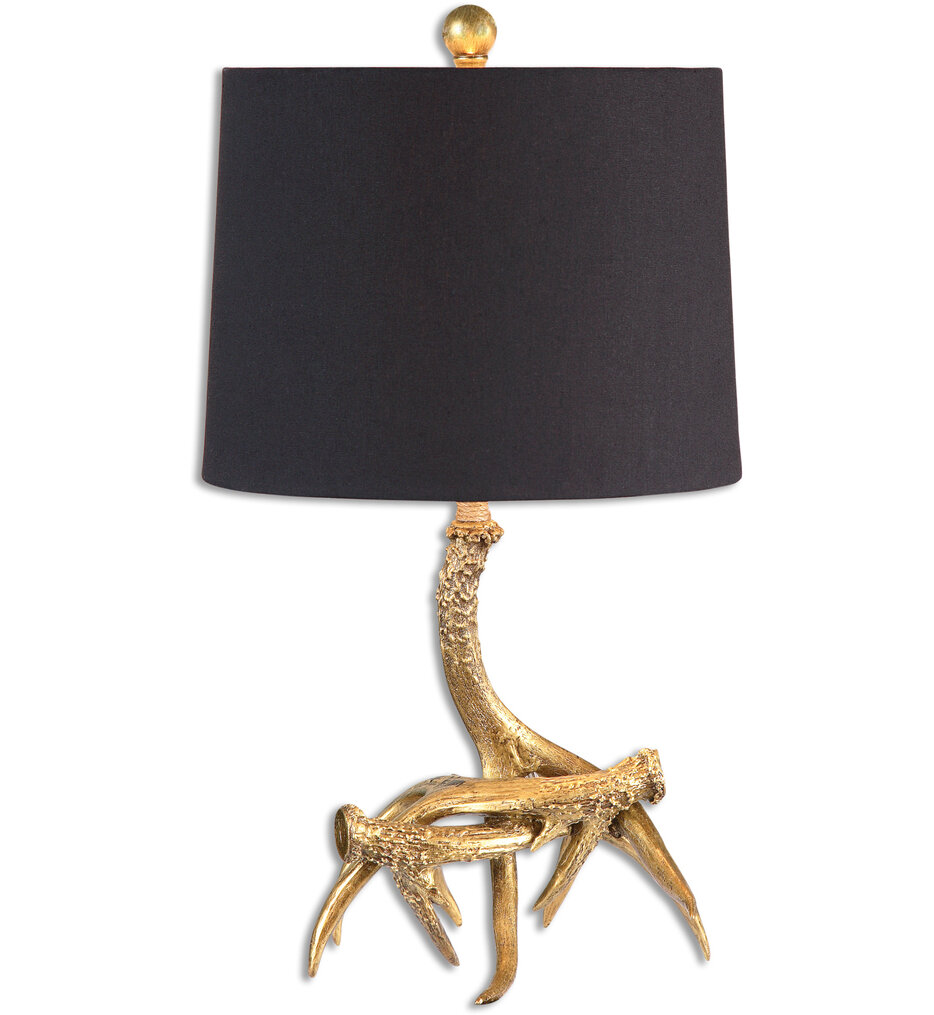 """Golden Antlers 21.5"""" Table Lamp"""
