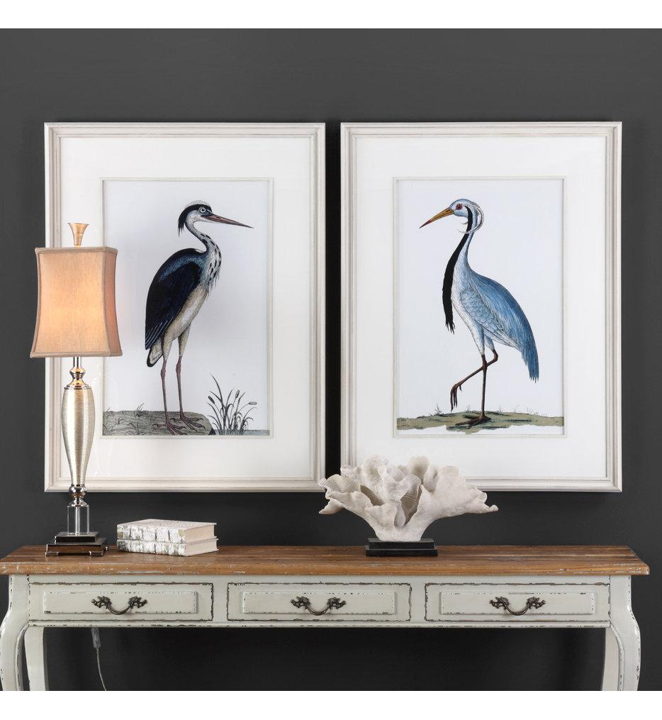 Shore Birds Framed Prints (Set of 2)