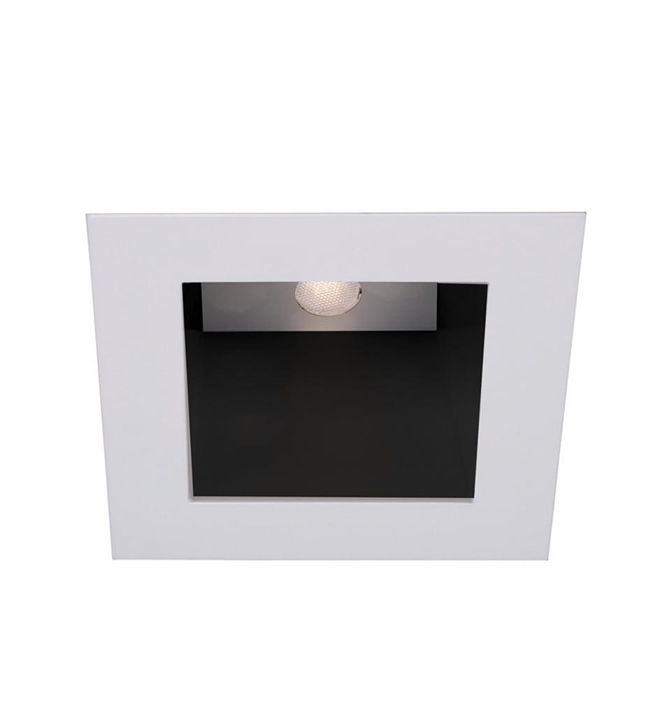 "White/White 4"" LED Downlight Open Reflectorvisible Trim Square"